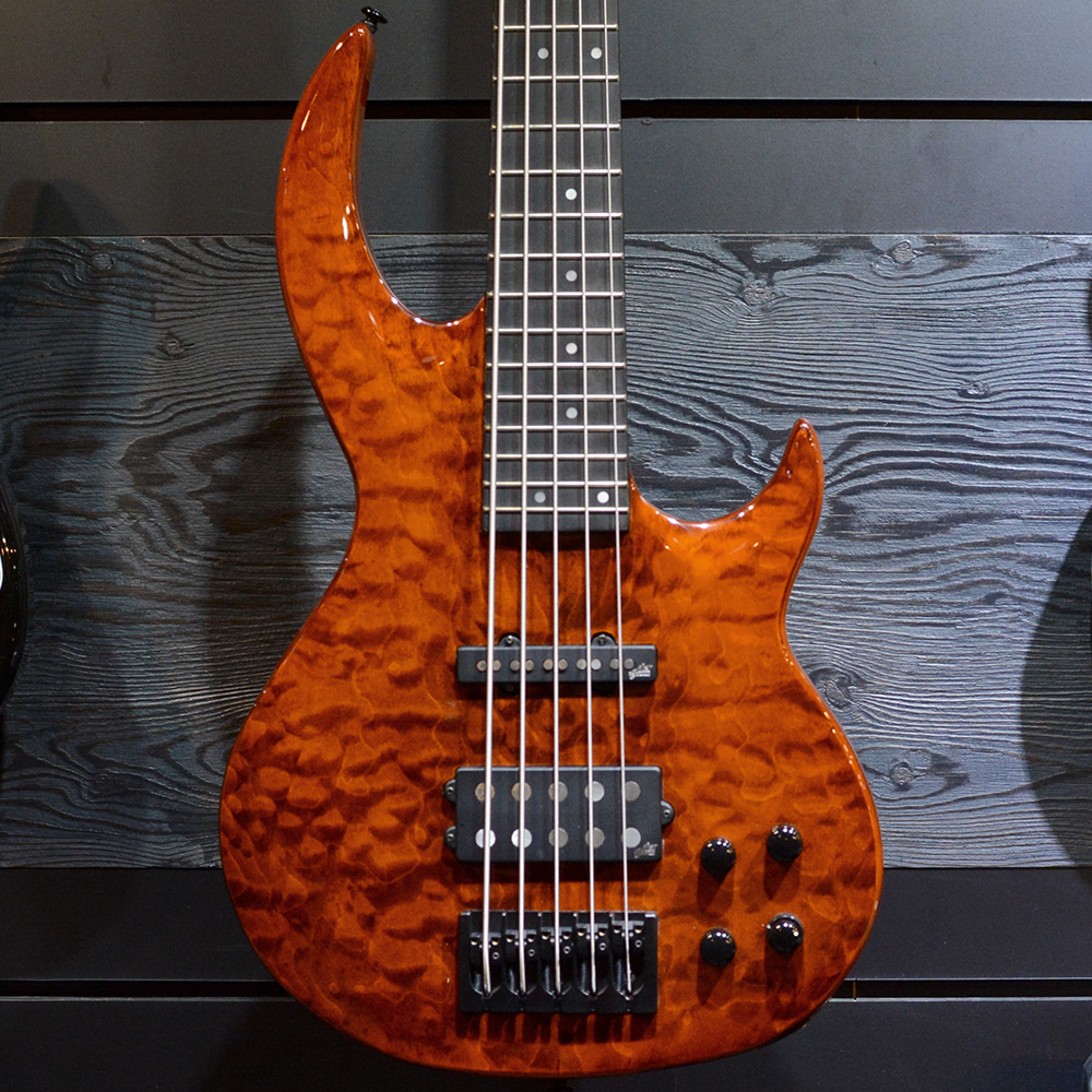 [중고] ESP LTD BB-1005QM Bunny Brunel Signature See Thru Orange Burnt 2019'