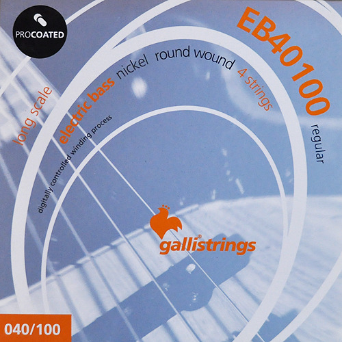 이테리 갈리 베이스 스트링 Galli String - EB40100 PROCOATED Regular - 4 strings
