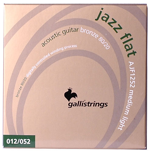 이테리 갈리 어쿠스틱 스트링 Galli String - Acoustic JAZZ FLAT Flat Wound AJF1252, (012-052)