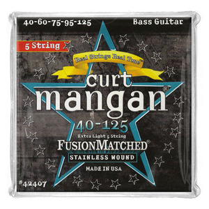 CURT MANGAN - Stainless 40-125 Bass 5 Strings