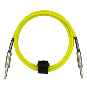 Dimarzio - overbraid cable,neon yel ,10ft (3.05m)