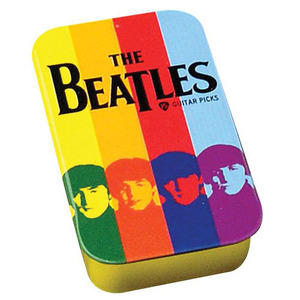 Planet Waves - Beatles Stripes Pick Tin - 15 Medium Picks