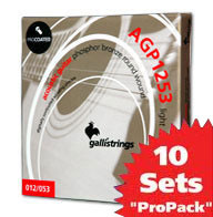 이테리 갈리 어쿠스틱 스트링 Galli String - AGP1253 ProCoated Phosphor Bronze Light (012-053) 10SET