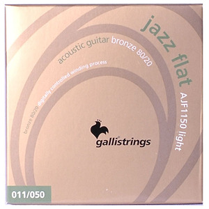 이테리 갈리 어쿠스틱 스트링 Galli String - Acoustic JAZZ FLAT Flat Wound AJF1150, (011-050)