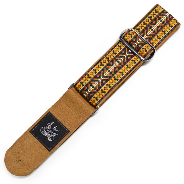 JayKco Strap - ORANGE AND BROWN WOVEN